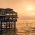 evening lima sunset on the pacific ocean the sun breaks throug stock photo © xura