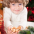 Funny child holding cookies stock photo © Yaruta
