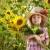 sorridere · agricoltore · ragazza · girasoli · campo - foto d'archivio © yaruta