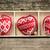 três · amor · corações · enforcamento · textura - foto stock © yaruta