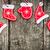 red christmas tree decorations on grunge wood stock photo © yaruta