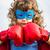 süper · kahraman · çocuk · dramatik · mavi · gökyüzü · gökyüzü · spor - stok fotoğraf © yaruta