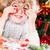 Funny child holding handmade Xmas decorations stock photo © Yaruta