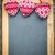 christmas tree decorations border on vintage wooden blackboard stock photo © yaruta