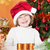 Smiling child in Santa`s hat stock photo © Yaruta