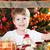 olhando · quadro · moldura · de · madeira · decorado · natal - foto stock © Yaruta