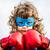 süper · kahraman · eğlence · kırmızı · maske · sarı · çizme - stok fotoğraf © yaruta