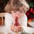 Happy child holding Xmas decoration stock photo © Yaruta