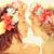 девушки · гирлянда · иллюстрация · женщину · воды · улыбка - Сток-фото © yaruta