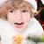 Funny child in Santa`s hat stock photo © Yaruta