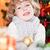 Happy child holding Xmas ball stock photo © Yaruta
