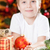 sorridente · menino · bola · vermelho - foto stock © Yaruta