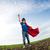 süper · kahraman · çocuk · atlama · dramatik · mavi · gökyüzü · gökyüzü - stok fotoğraf © Yaruta