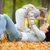 mutlu · aile · oynama · sonbahar · yaprakları · park · aile · çocukluk - stok fotoğraf © yaruta