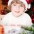 Funny smiling child in Santa`s hat stock photo © Yaruta