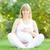 hermosa · mujer · embarazada · relajante · parque · yoga · hierba - foto stock © yaruta