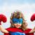 kız · oynama · süper · kahraman · mutlu · heyecanlı · atlama - stok fotoğraf © yaruta