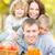 glückliche · Familie · Herbst · Park · Picknick · Freien · verschwommen - stock foto © Yaruta