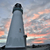 sunset over breakwater walton lighthouse santa cruz california stock photo © yhelfman