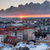 Helsinki rooftops at Sunset with dark clouds stock photo © yhelfman
