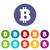 bitcoin flat icon stock photo © ylivdesign