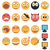 Vintage set of glossy Emoticons stock photo © ylivdesign
