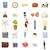office icons set cartoon style stock photo © ylivdesign