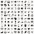 100 · díjak · ikon · szett · egyszerű · stílus · izolált - stock fotó © ylivdesign