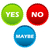 yes no and maybe buttons stock photo © ylivdesign
