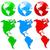 colorful earth icon set stock photo © ylivdesign