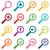 colored loupe icon set stock photo © ylivdesign