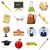 school icons set cartoon style stock photo © ylivdesign