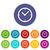 saat · ikon · vektör · yalıtılmış · beyaz · düzenlenebilir - stok fotoğraf © ylivdesign