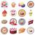 zoet · voedsel · banketbakkerij · iconen · vector · voedsel - stockfoto © ylivdesign