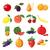 fruit icons set cartoon style stock photo © ylivdesign