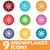 colored round snowflakes icon set stock photo © ylivdesign