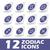 zodiaco · set · segni · adesivo · stile - foto d'archivio © ylivdesign
