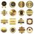 conjunto · dourado · vetor · distintivo - foto stock © ylivdesign