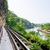 brug · rivier · Thailand · beroemd · gebouw · kruis - stockfoto © yongkiet