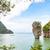 high angle view khao tapu or james bond island stock photo © yongkiet