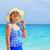 meisje · strand · Thailand · toeristische · Blauw · witte - stockfoto © Yongkiet