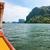 kürek · çekme · tekne · barınak · uzun · ahşap - stok fotoğraf © yongkiet