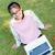Top · мнение · улыбаясь · азиатских · женщину · подоконник - Сток-фото © yongkiet