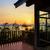 portico · tramonto · spiaggia · viaggio · silhouette · colore - foto d'archivio © yongkiet