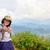 Tourist teen girl on Phu Chi Fa mountain foto stock © Yongkiet