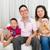 アジア · 家族の肖像画 · 家族 · 女性 · 男 · 幸せ - ストックフォト © yongtick