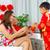 アジア · 家族 · 男の子 · 赤 · 両親 · 旧正月 - ストックフォト © yongtick
