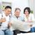 азиатских · Семейный · портрет · китайский · семьи · чтение · газета - Сток-фото © yongtick