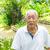 Asya · yaşlı · adam · park · portre · beyaz · saçlı · kıdemli - stok fotoğraf © yongtick