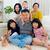 três · gerações · retrato · de · família · colagem - foto stock © yongtick